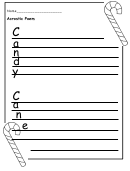 Candy Acrostic Poem Writing Template