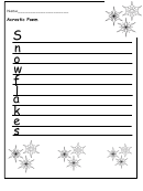 Acrostic Poem Christmas Writing Template