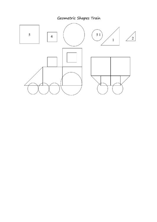 Geometric Shape Templates For Preschoolers printable pdf download