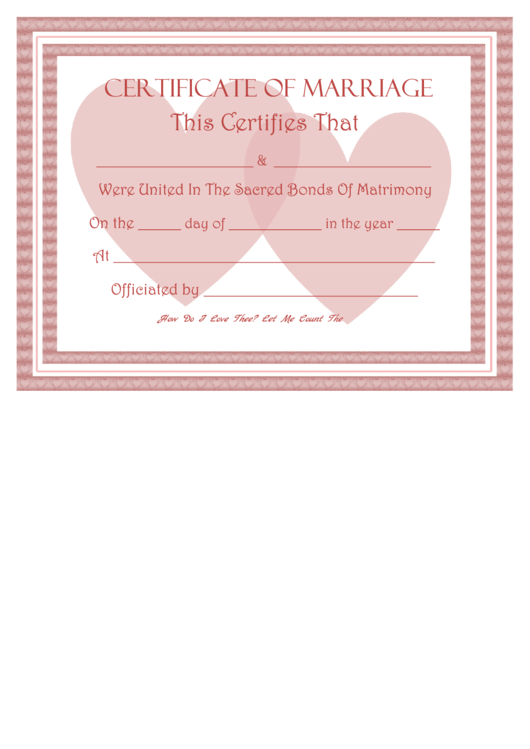 Amazing fake marriage certificate template images resume ideas fake marriage certificate template printable pdf download yelopaper Images