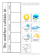 Homeschool Calendar And Weather Graph Template