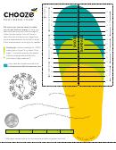 Chooze Foot Sizing Chart