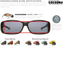 Cocoons Eyewear Sizing Guide Instructions