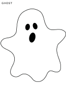 Halloween Ghost Template - Large