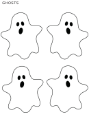 Halloween Small Ghost Templates