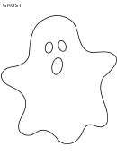 White Halloween Ghost Template
