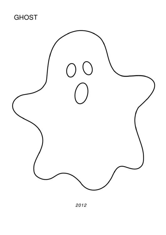 White Halloween Ghost Template printable pdf download