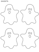 Four Small Halloween Ghost Templates
