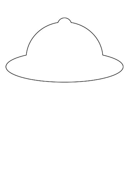 Открытка в виде шляпки с шаблонами