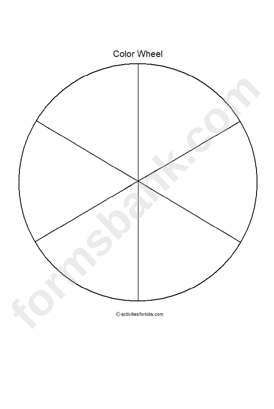 Blank Color Wheel Template Printable Pdf Download