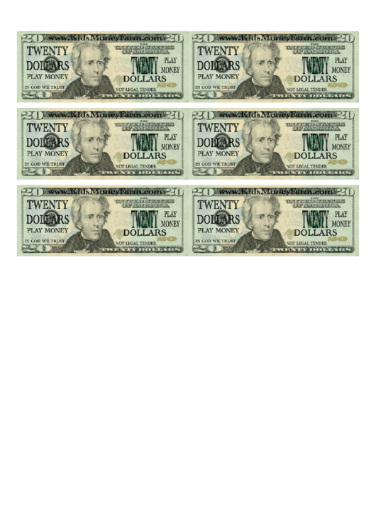Top 7 20 Dollar Bill Templates Free To Download In Pdf Format