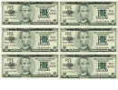 Five Dollar Bill Play Money Template