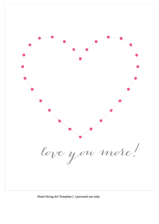 heart string art template printable pdf download