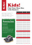 Kickers Kids Shoe Size Chart