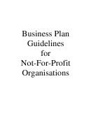Business Plan Guidelines For Not-For-Profit Organisations & Business Plan Template Printable pdf
