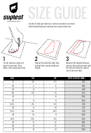 Suplest Feet Size Guide
