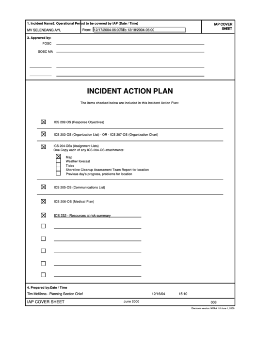 Incident Action Plan
