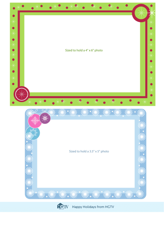 Picture Frame Template Printable pdf