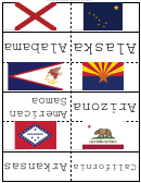 State Flags Flash Card Template