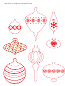 Modern Red Ornament Template