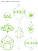 Modern Green Ornament Template