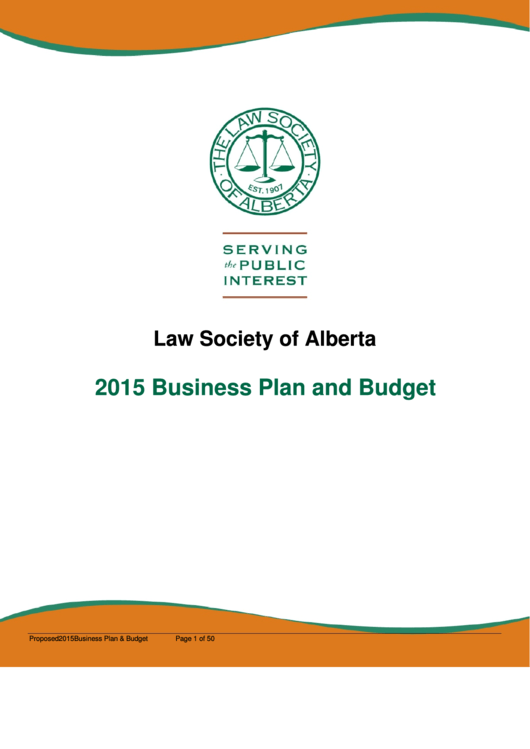 Business Plan And Budget Template Printable pdf