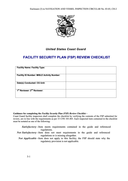 Facility security plan fsp review checklist template for Facility security plan template