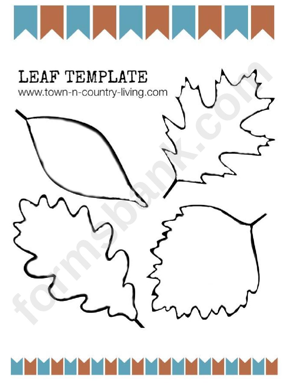 fall leaf template printable pdf download
