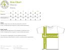 Greenlight Apparel Women Shirts Size Chart