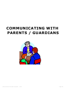 Communicating With Parents / Guardians