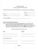 Williams College Application For Contract Major