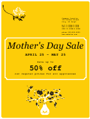 Sale Sign Template - Spring Yellow