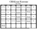 Chalean Extreme Workout Schedule