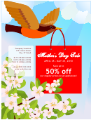 Mother's Day Sale Sign Template