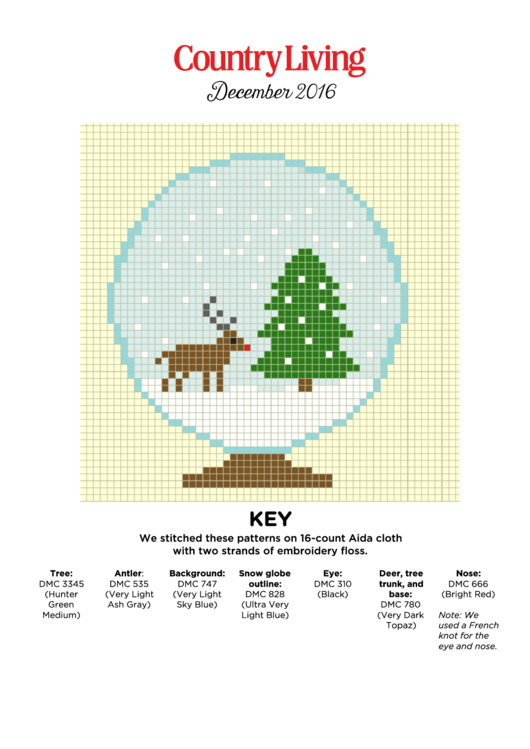 Christmas Cross Stitch Graph Paper Printable pdf