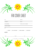 Fax Cover Sheet - Flowers