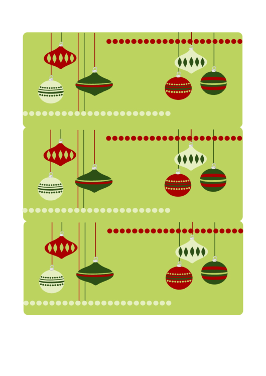 Holiday Gift Tag Template