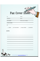 Fax Cover Sheet - Blue With Hand