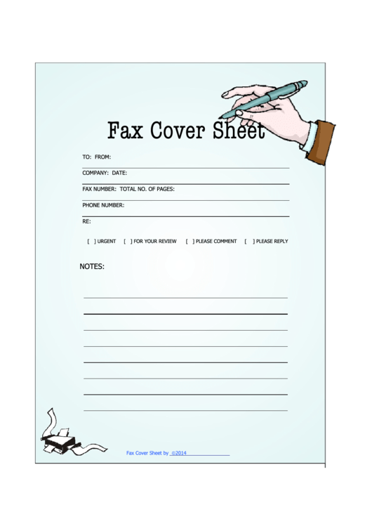 Printable Fax Cover Letter Pdf Large Concept Stylish