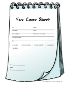 Fax Cover Sheet - Notebook
