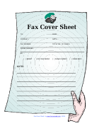 Fax Cover Sheet - Blue Fax
