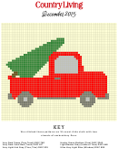 Country Living Cross-stitch Pattern - Truck