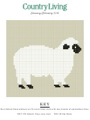 Country Living Cross-stitch Pattern - Sheep