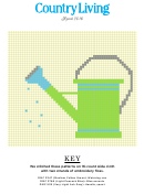 Country Living Cross-stitch Pattern - Watering Can