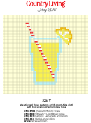 Country Living Cross-stitch Pattern - Lemonade