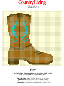Country Living Cross-stitch Pattern - Boot