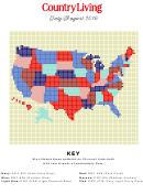 Country Living Cross-stitch Pattern - Usa
