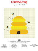 Country Living Cross-stitch Pattern - Bees
