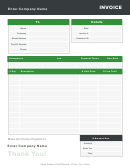 Catering Invoice Template - Green