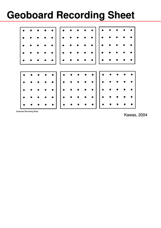 Geoboard Recording Sheet Printable pdf